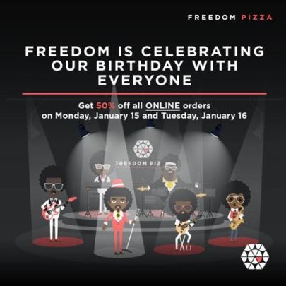 1 - Freedom Pizza - 50% off