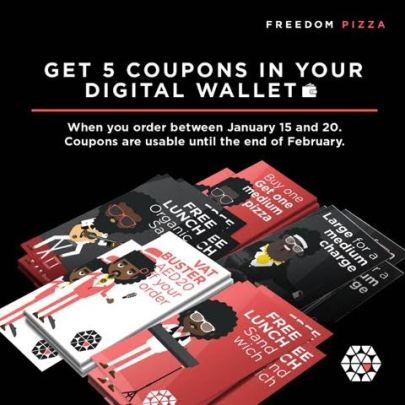 2 - Freedom Pizza - 5 coupons